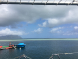 船からのカネオヘ湾の様子