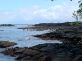 黒砂海岸。運が良ければ海亀に出会えるらしい。