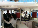 午後の船の様子です。広々快適です。