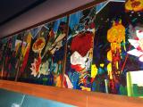 素敵なレストランの壁絵です