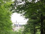 工事中のマリエン橋とノイシュバンシュタイン城