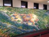 展示されている油絵、往年の首里城を再現