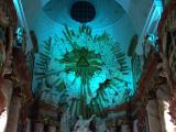 教会内の天井