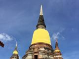 王妃のテーマカラーに包まれた仏塔