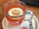 カフェで飲んだ伝統茶。とてもおいしかったです。