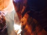 アンテロープアッパー 入口入ってすぐ。陽のさす光に感動