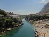モスタルで有名な橋から見える風景