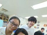With the nice teacher :)