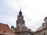街から見たチェスキー・クルムロフ城