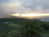 曇ってたけど何とか見れたダイアモンドヘッドからの日の出!
