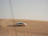 砂漠を疾走します