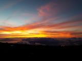 ハレアカラ山頂からのサンセット