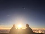 マウナケア山頂夕日