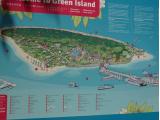 グリーン島のマップ