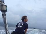 ガイドのダイスケさん!船の先頭に優雅に座っているけど相当スピードと揺れが凄かった(笑)!!