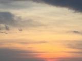 船からの夕日