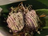 紫芋のサラダ美味しい〜