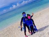 青い海と青い空!
