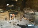 バトゥン村のお家の台所