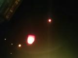 ツアー客だけの天燈上げでしたがとても綺麗に夜空に映えました