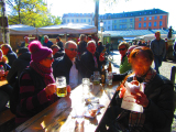 マルクト広場にてミュンヘン子と楽しい時間。
