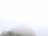 霧で見えないモンサンミッシェル