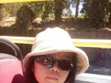 屋根の無い開放的な2階建てバスで、娘もお気に入りでした!