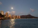Waikiki skyline at night. So beautiful.