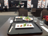 スイーツと京野菜サラダ