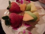 ビュッフェの一部。果物も美味しい