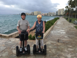 Paul and Cheryl loving the Segway Tour in Waikiki