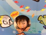 ジンベイサメにご満悦でした。