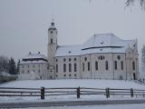 銀世界のヴィース教会です。