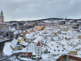 雪一面のチェスキー・クルムロフ