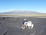 雄大なマウナケアと標高2,000mの溶岩台地