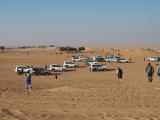 16時頃に砂漠入口付近で他のツアー参加者と合流