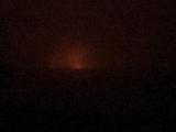遠くに見える噴火口