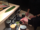Matcha in the sushi var