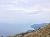 八丈富士の山頂付近にて。