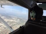 本当に僕が操縦しているんだぜ、景色も最高だね!