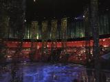 水上ショーが始まる前に撮影したステージの様子です。