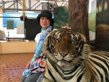 虎との写真。記念になりました。
