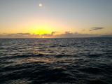 船上的夕陽美景