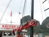 乗った船です。あまり揺れもなく、二階席もあって風景を楽しめました。