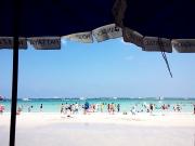 ビーチは白い砂です