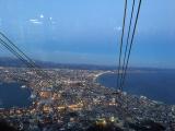 下山のロープウエーから見た夜景