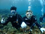 工作人員幫我們水底拍攝