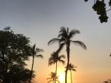 ハプナビーチでのサンセット