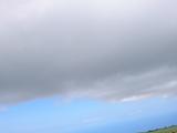 ものすごく広い牧場。丘から海まで全部敷地とのこと。