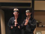 Together with ninja master